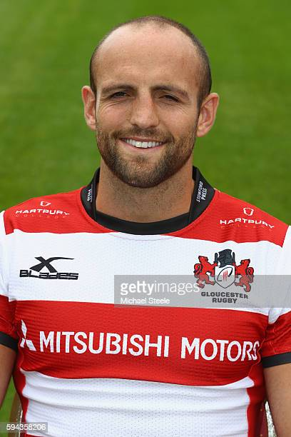 Charlie Sharples poses for a portrait during the Gloucester Rugby squad photo call for the 20162017 Aviva Premiership Rugby season on August 22 2016...