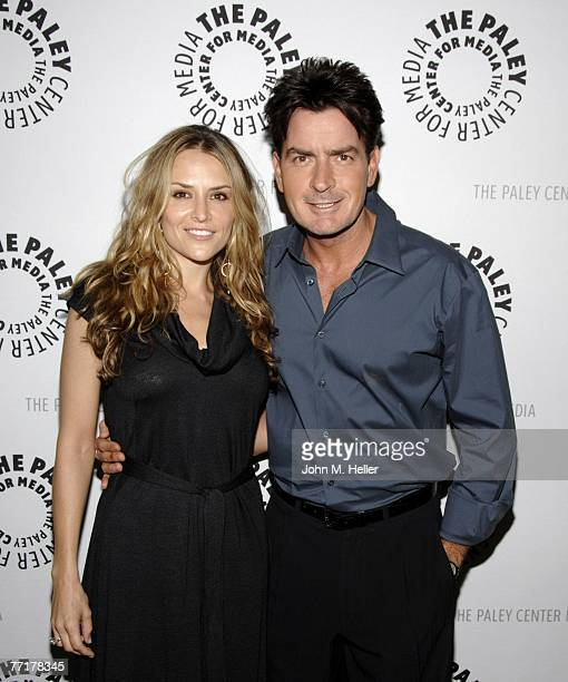 Charlie Sheen and Brooke Mueller attend the 100th Episode Celebration of Two And A Half Men presented by The Paley Center For Media at the Paley...