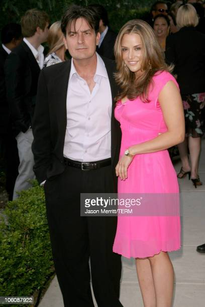 Charlie Sheen and Brooke Mueller during Chrysalis' 5th Annual Butterfly Ball at The Italian Villa Carla & Fred Sands in Bel Air, California, United...