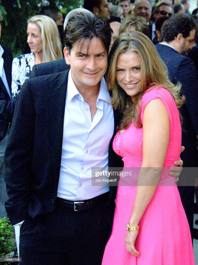 Charlie Sheen and Brooke Mueller during Chrysalis' 5th Annual Butterfly Ball at The Italian Villa Carla & Fred Sands in Bel Air, California, United States.