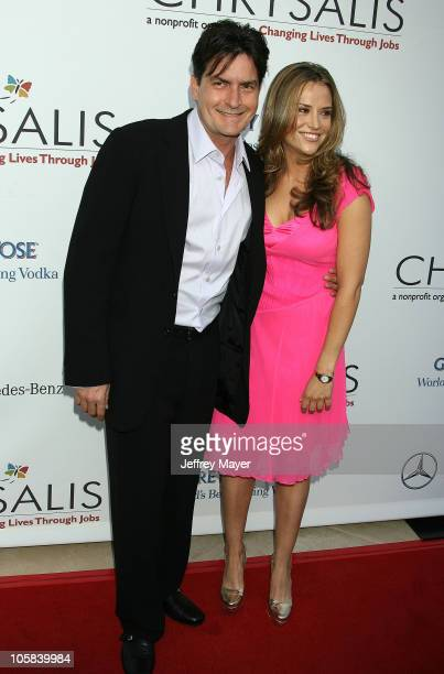 Charlie Sheen and Brooke Mueller during Chrysalis's 5th Annual Butterfly Ball Arrivals at Italian villa of Carla and Fred Sands in Bel Air California...