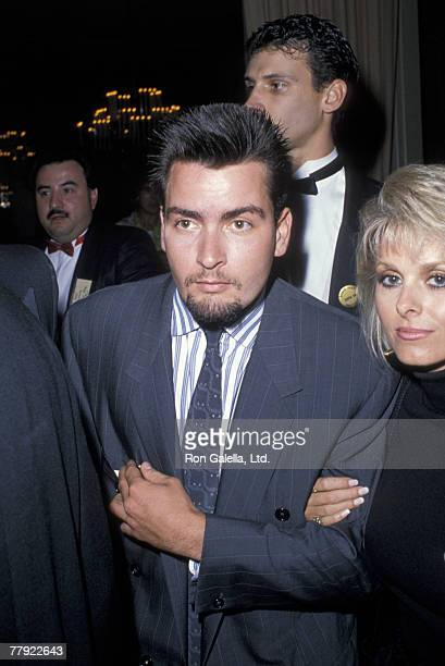Charlie Sheen and Cathy St George