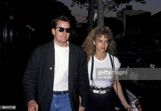Charlie Sheen and Kelly Preston