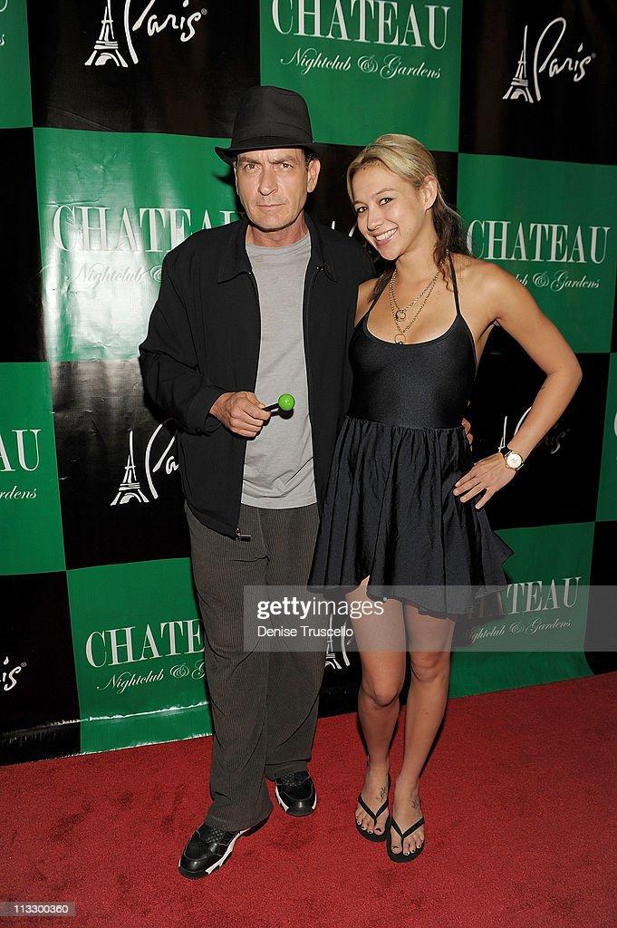 Charlie Sheen Hosts At Chateau Nightclub & Gardens At Paris Las Vegas
