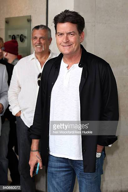 Charlie Sheen at BBC Radio One on June 16 2016 in London England