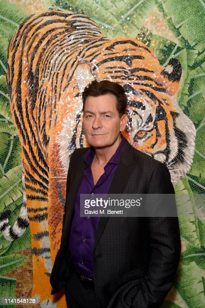 Charlie Sheen at the Evening with Charlie Sheen at Annabel's on April 09, 2019 in London, England.