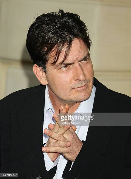 Charlie Sheen at the Italian villa of Carla and Fred Sands in Bel Air California