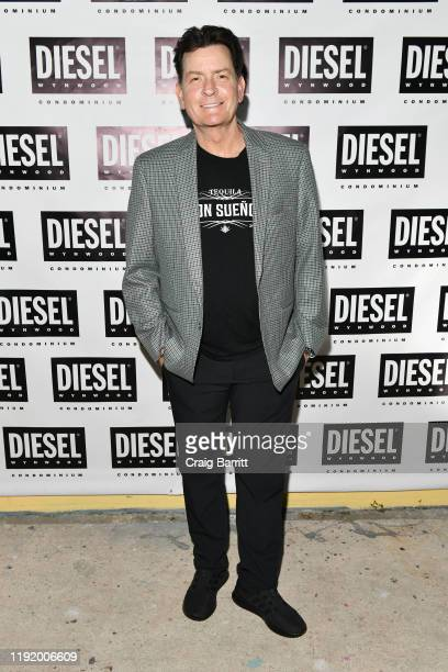 Charlie Sheen attends as DIESEL celebrates the exclusive launch of DIESEL Wynwood 28, their first residential building, with a DJ set by Amrit at...