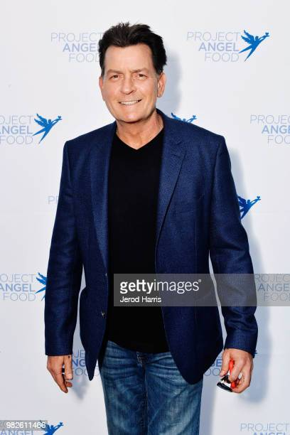 Charlie Sheen attends Project Angel Food's 23rd Annual Angel Art ART=LOVE Benefit Auction at NeueHouse Hollywood on June 23 2018 in Los Angeles...