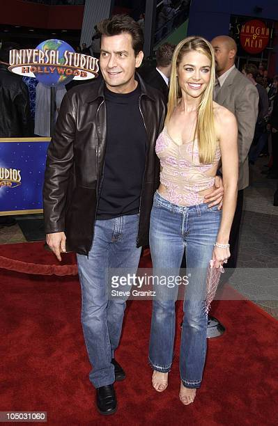 Charlie Sheen Denise Richards during 'Undercover Brother' Premiere at Universal Citywalk in Universal City California United States