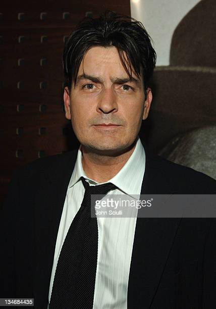 """Charlie Sheen during 2006 Cannes Film Festival - """"Platoon"""" Cocktail Party at Hotel Majestic in Cannes, France."""