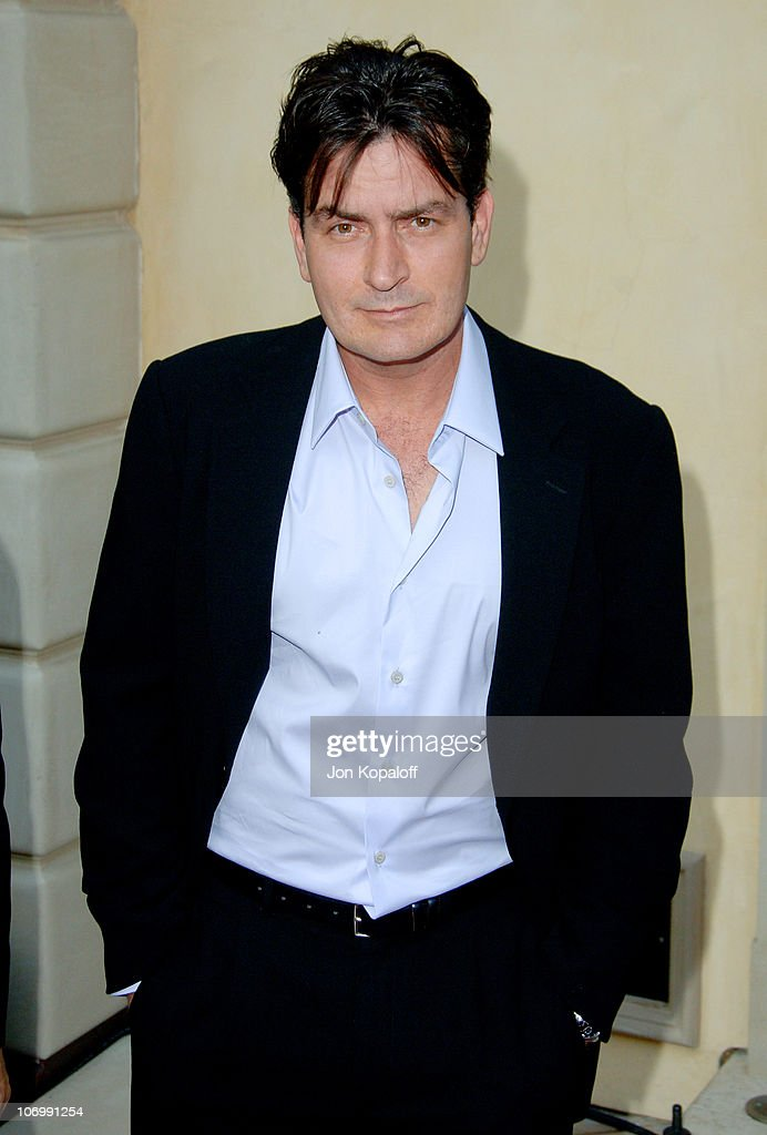 Charlie Sheen during Chrysalis' 5th Annual Butterfly Ball at The Italian Villa Carla & Fred Sands in Bel Air, California, United States.