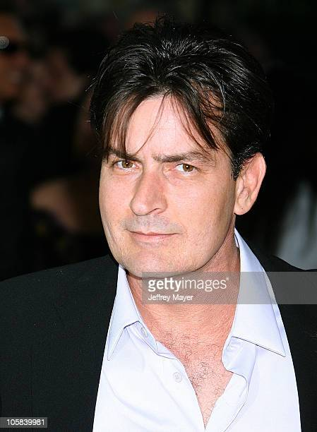 Charlie Sheen during Chrysalis's 5th Annual Butterfly Ball Arrivals at Italian villa of Carla and Fred Sands in Bel Air California United States