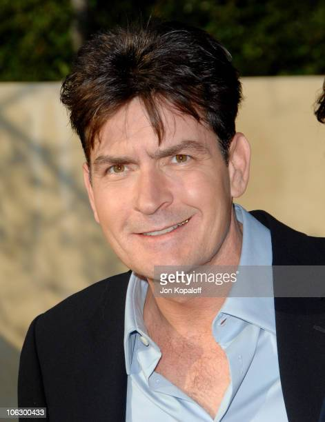 Charlie Sheen during Sixth Annual Chrysalis Butterfly Ball Arrivals at Home of Susan Harris Hayward Kaiser in Mandeville Canyon California United...