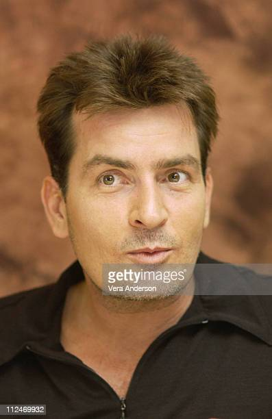Charlie Sheen during Two and a Half Men Press Conference with Charlie Sheen and Jon Cryer at Four Seasons Hotel in Beverly Hills California United...