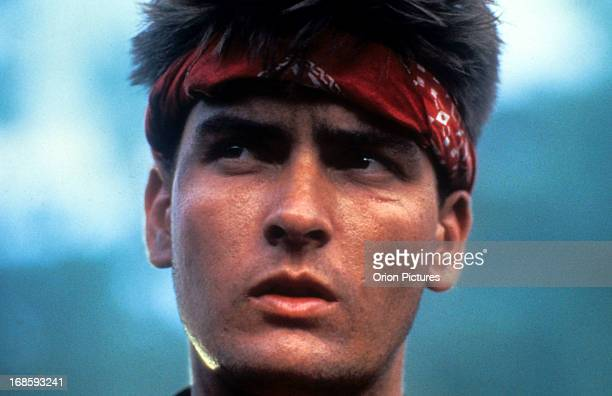 Charlie Sheen in a scene from the film 'Platoon' 1986