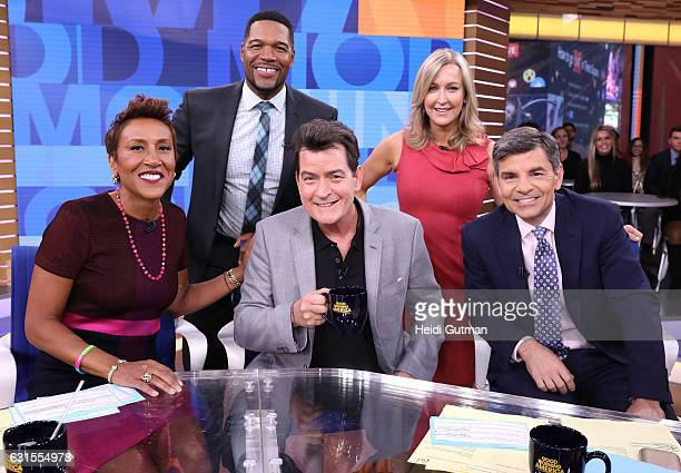 AMERICA Charlie Sheen is a guest on 'Good Morning America' 1/12/17 airing on the ABC Television Network ROBIN