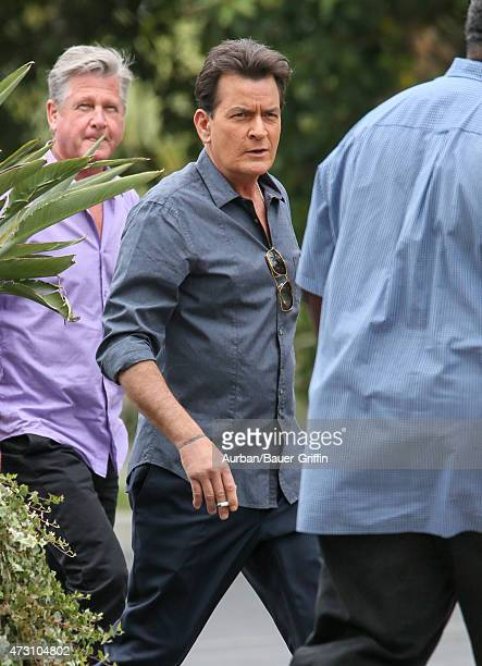 Charlie Sheen is seen at 'Extra' on May 12 2015 in Los Angeles California
