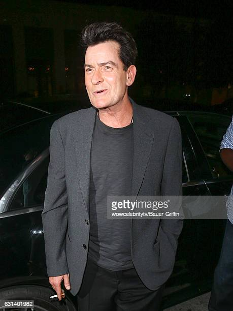 Charlie Sheen is seen on January 09 2017 in Los Angeles California