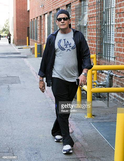 Charlie Sheen is seen on September 01 2015 in Los Angeles California