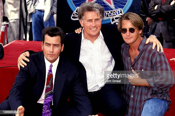 Charlie Sheen Martin Sheen and Emilio Estevez
