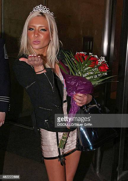 Charlie Sheen Porn Star Pageant winner Kacey Jordan is seen leaving the Howard Stern show on March 03, 2011 in New York City.