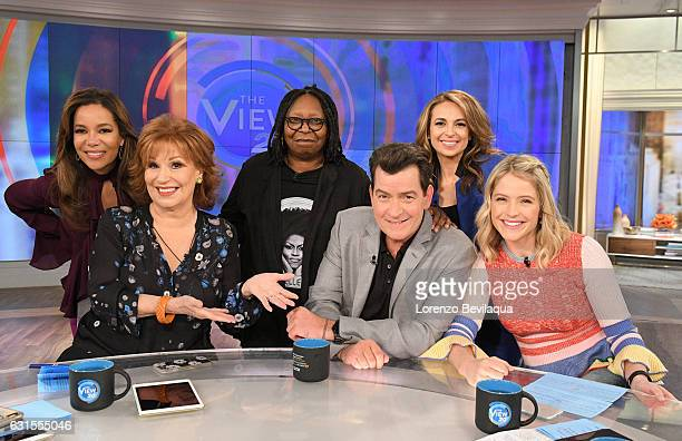THE VIEW Charlie Sheen visits 'THE VIEW' 1/12/17 airing on the ABC Television Network HAINES