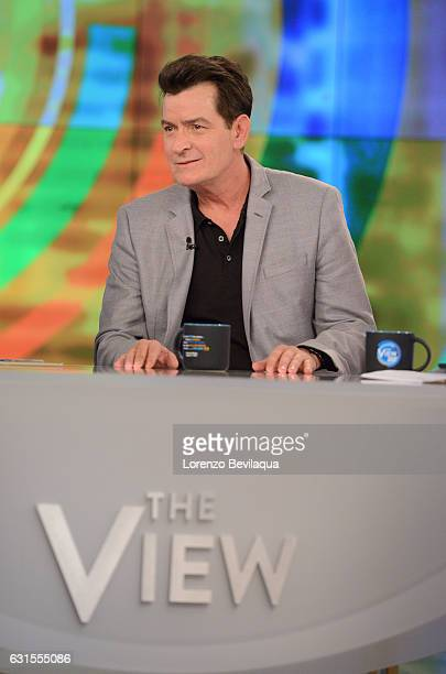 THE VIEW Charlie Sheen visits 'THE VIEW' 1/12/17 airing on the ABC Television Network SHEEN