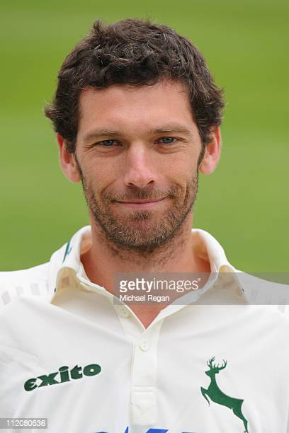 Charlie Shreck poses for a portrait during the Nottinghamshire CCC photocall at Trent Bridge on April 12 2011 in Nottingham England