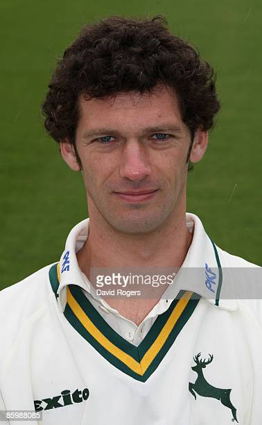 Charlie Shreck poses for a portrait during the Nottinghamshire County Cricket photocall held at Trent Bridge on April 15 2009 in Nottingham England