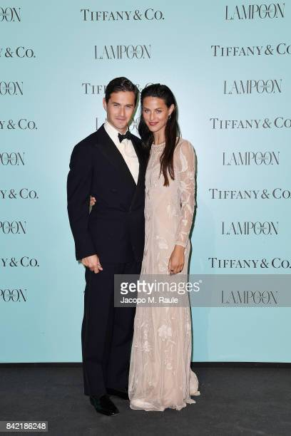 Charlie Siem and Loulou Siem attend Keep On Shining Party Tiffany and Co For Lampoon Magazine at Conservatorio Di Venezia on September 2 2017 in...