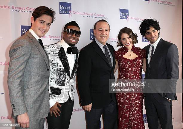Charlie Siem Charles Perry Tommy Mottola Caroline Jones and Freddy Wexler attend the 2011 Dubin Breast Center benefit at the Mandarin Oriental Hotel...