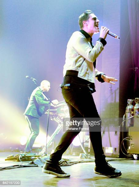 Charlie Simpson and Matt Willis of Busted perform at O2 Apollo Manchester on February 16 2017 in Manchester United Kingdom