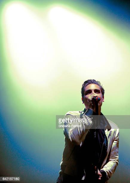 Charlie Simpson of Busted performs at O2 Apollo Manchester on February 16 2017 in Manchester United Kingdom