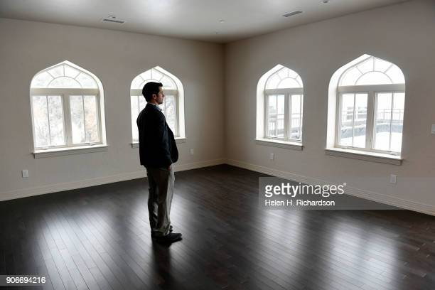 Charlie Soule a real estate broker with Clear Creek walks through one of the condos of the new Mirador at Tennyson condominium project inside the...