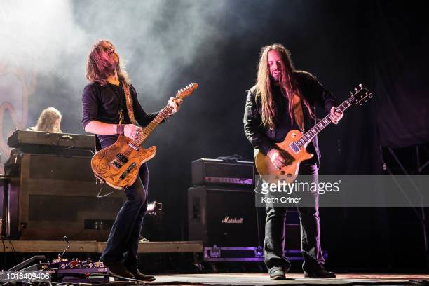 Charlie Starr and Paul Jackson of Blackberry Smoke performs at The Lawn at White River State Park on August 12 2018 in Indianapolis Indiana