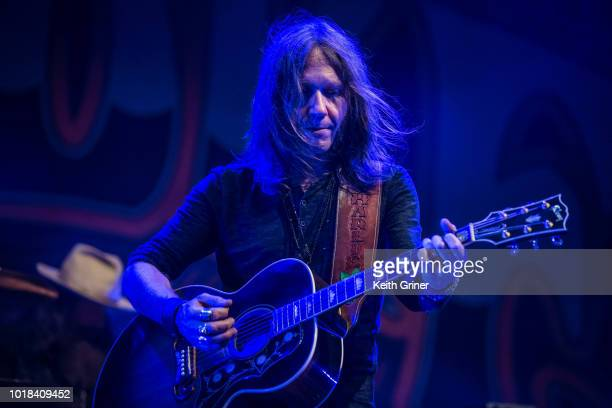 Charlie Starr of Blackberry Smoke performs at The Lawn at White River State Park on August 12 2018 in Indianapolis Indiana