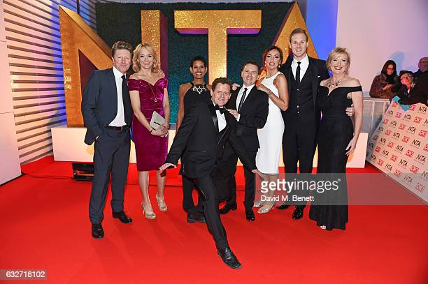 Charlie Stayt Louise Minchin Naga Munchetty Mike Bushell Chris Hollins Sally Nugent Dan Walker and Carol Kirkwood attend the National Television...