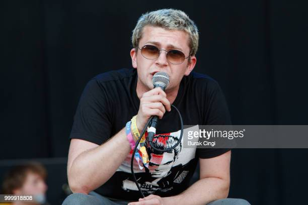 Charlie Steen of Shame performs at Citadel festival at Gunnersbury Park on July 15 2018 in London England