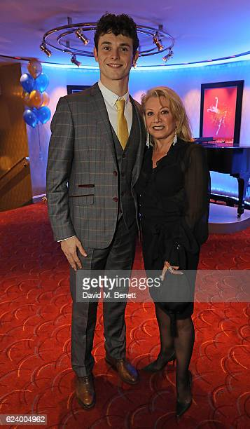 Charlie Stemp and Elaine Paige attend the press night after party for 'Half A Sixpence' at The Prince of Wales Theatre on November 17 2016 in London...