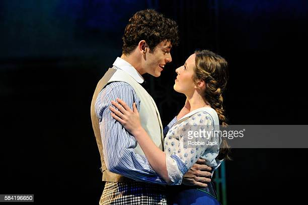Charlie Stemp as Arthur Kipps and Devon-Elise Johnson as Ann Pornick in Half A Sixpence directed by Rachel Kavanaugh at Chichester Festival Theatre...
