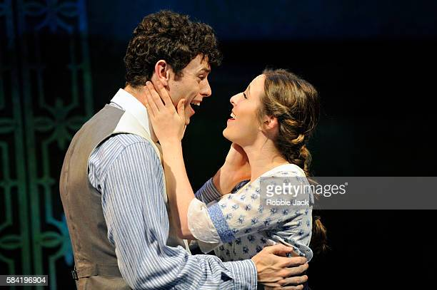 Charlie Stemp as Arthur Kipps and DevonElise Johnson as Ann Pornick in Half A Sixpence directed by Rachel Kavanaugh at Chichester Festival Theatre on...