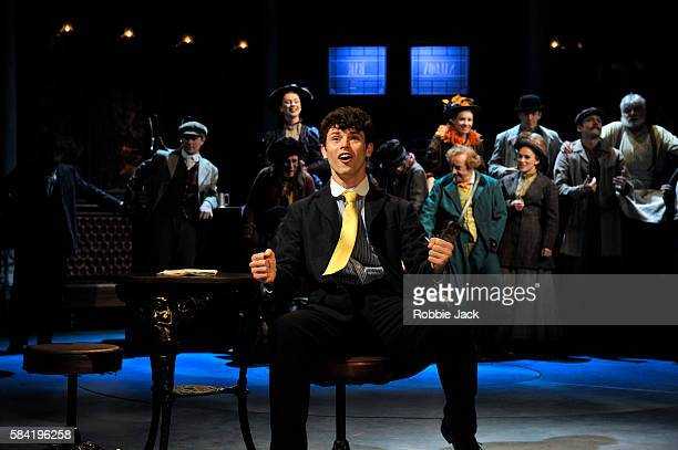 Charlie Stemp as Arthur Kipps with artists of the company in Half A Sixpence directed by Rachel Kavanaugh at Chichester Festival Theatre on July 26...