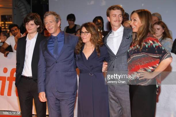 Charlie Tahan Ben Mendelsohn Nicole Holofcener Thomas Mann and Elizabeth Marvel attend The Land Of Steady Habits premiere during 2018 Toronto...