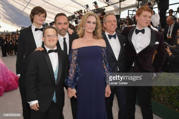 Charlie Tahan Evan George Vourazeris Trevor Long Lisa Emery Robert C Treveiler and Carson Holmes attend the 25th Annual Screen Actors Guild Awards at...