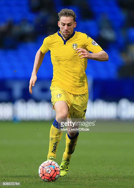 Charlie Taylor of Leeds in action during the Emirates FA Cup Fourth Round match between Bolton Wanderers and Leeds United at the Macron Stadium on...