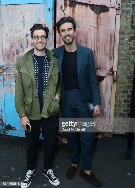 Charlie Teasdale and Teo van den Broeke attend 'TOPMAN DESIGN Presents Transition' for LFWM at The Truman Brewery on June 9 2017 in London England