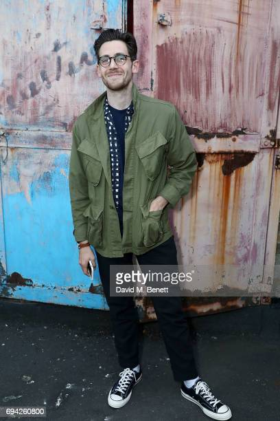 Charlie Teasdale attends 'TOPMAN DESIGN Presents Transition' for LFWM at The Truman Brewery on June 9 2017 in London England