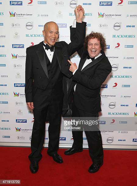 Charlie Teo and Leo Sayer attend the Cure Brain Cancer Foundation 1930s Hollywood Glamour Ball at the Hordern Pavillion on May 2 2015 in Sydney...