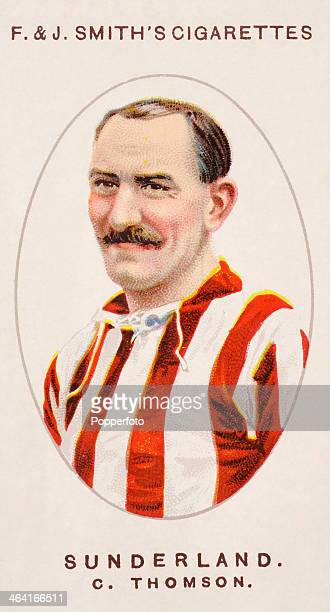 Charlie Thomson of Sunderland FC featured on a vintage cigarette card published in London circa 1917